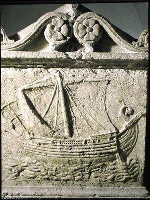 "Detail of the ""Ship Sarcophagus"", from Sidon, Lebanon, second century CE"