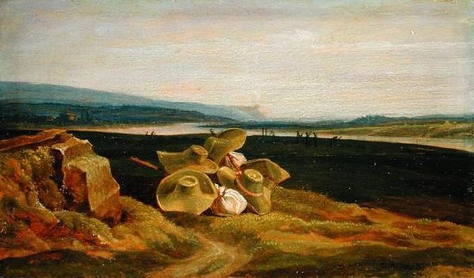 Landscape with Sun Hats, 1825