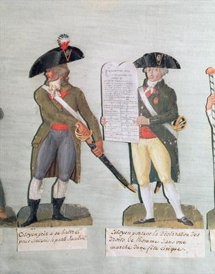 A Citizen Ready to Fight and a Citizen Carrying the Declaration of the Rights of Man
