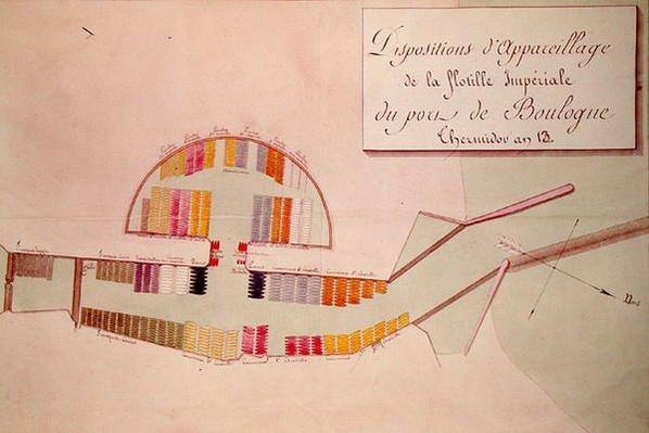 Plan of the Imperial Flotilla in the port of Boulogne on the 17th January 1804