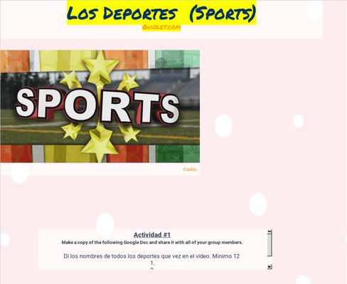 Sports - Los Deportes