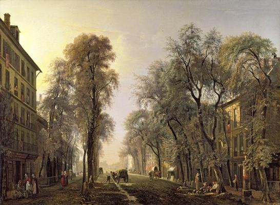 Boulevard Poissonniere in 1834