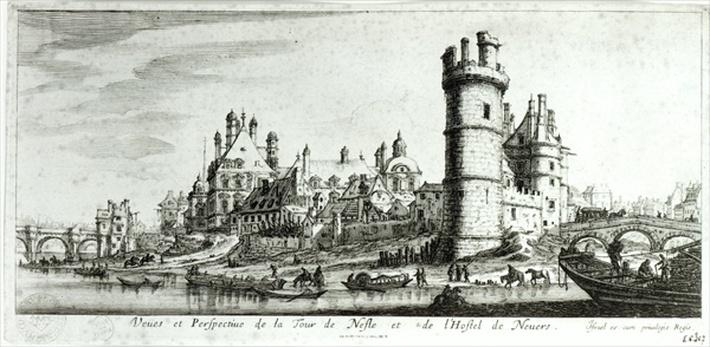 Perspective view of the Tour de Nesle and the Hotel de Nevers