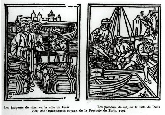 Wine gaugers and salt merchants, 1501
