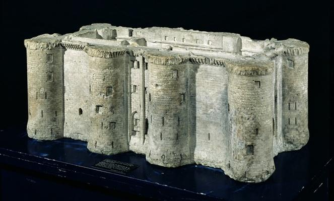 Model of the Bastille made from one of the stones of the Bastille, 1789