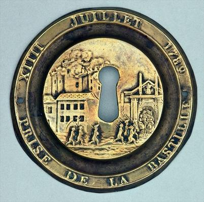 Lock depicting the Siege of the Bastille