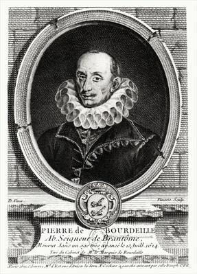 Medallion portrait of Pierre de Bourdeille