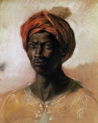 Portrait of a Turk in a Turban, c.1826