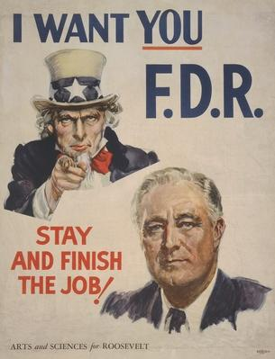 1944 FDR Presidential Election Poster | Ken Burns: The Roosevelts