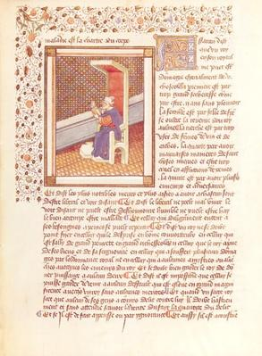 Ms 614 Page from 'Les Dits Moraux des Philosophes'