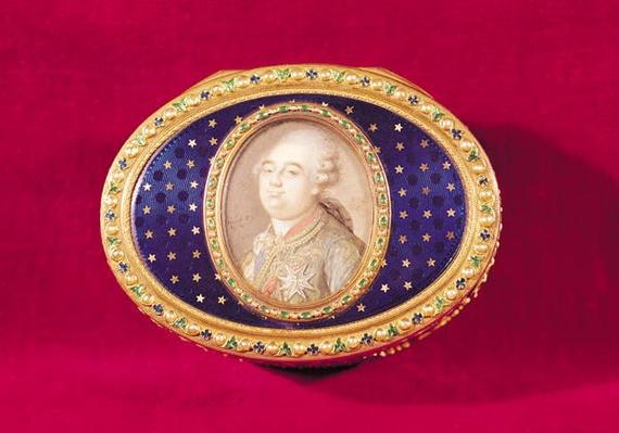 Snuffbox with a portrait miniature of Louis XVI