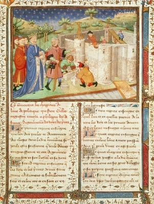 Ms 1015 fol.1 Illustration from 'Gouvernement des Rois et des Princes'