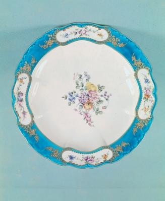 Plate decorated with a floral pattern, Sevres