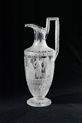 Jug depicting a dancer and a lyre player