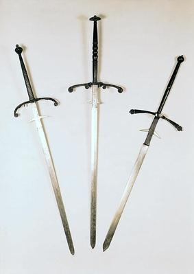 Three two-handed swords, 1570