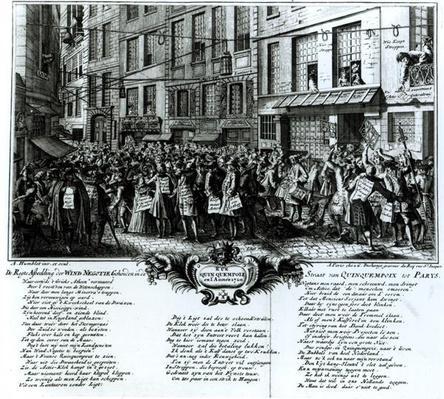 Rue Quinquempoix in 1720