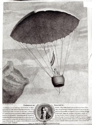 The First Parachute Descent by Andre Jacques Garnerin