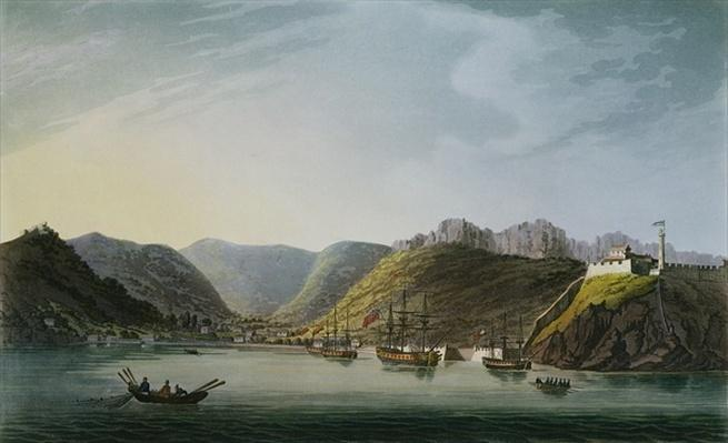 View of the West Side of Porto Ferraio Bay, Elba, engraved by Francis Jukes