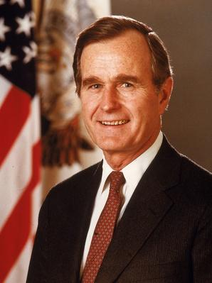 Porrtrait Of President George Bush, c. 1989.  | American Presidential Portraits