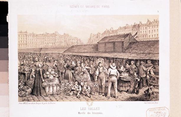 Les Halles, 1855
