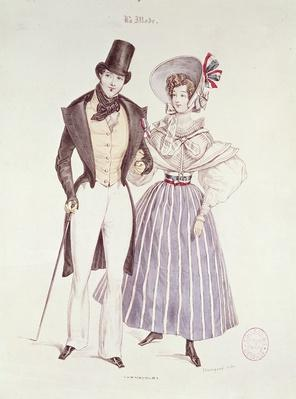 Fashion for Men and Women, 1830