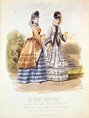 Fashion plate from 'Les Modes Parisiennes', 1870