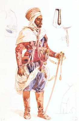 Spahi with his sword, c.1854