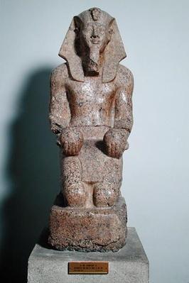 Kneeling statue of Amenhotep II
