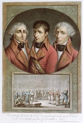 Portrait of the Three Consuls of the Republic and Barthelemy Presenting the Consitutional Act Proclaiming Napoleon I as Emperor for Life to the Premier Consul