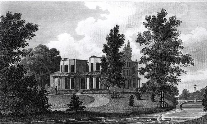 Lord Nelson's Villa at Merton, published 1806