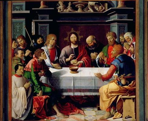 The Last Supper, central panel from the Eucharist Triptych, 1515