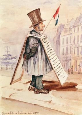 The Sandwich Board Man, Boulevard du Temple, 1839