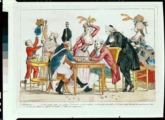 Caricature of Louis XVI