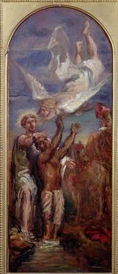 Study for St. Philip Baptising the Eunuch of the Queen of Ethiopia