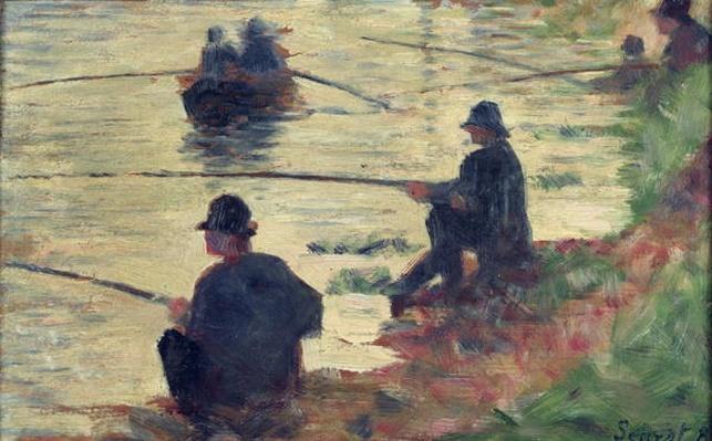 Anglers, Study for 'La Grande Jatte', 1883