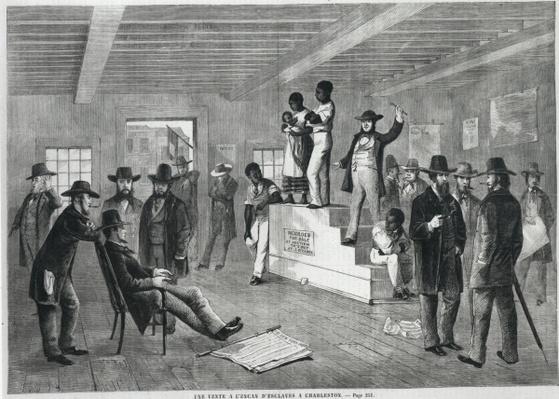 Slave Auction in Charleston, 1860-61