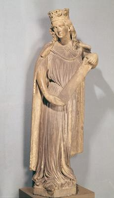 Allegorical figure of the Small Church, from Strasbourg Cathedral