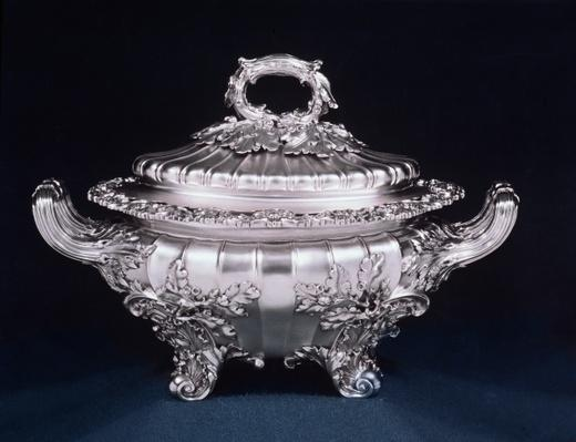 Soup tureen, one of a pair, made by Paul Storr at Dean Street Workshop of Rundell Bridge & Rundell, London, 1819-20