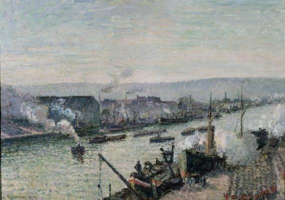 Saint-Sever Port, Rouen, 1896