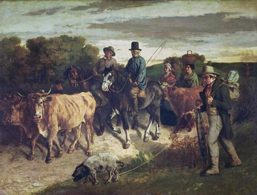 The Peasants of Flagey Returning from the Fair, 1850-55
