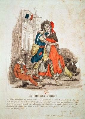 'Le Cholera Morbus', Allegory of the Cholera Epidemic after the 1830 Revolution, c.1832