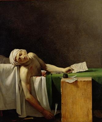 The Death of Marat, after the original by Jacques-Louis David