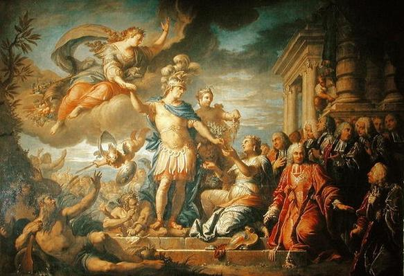 Allegory of the Peace of Aix-la-Chapelle, 1761