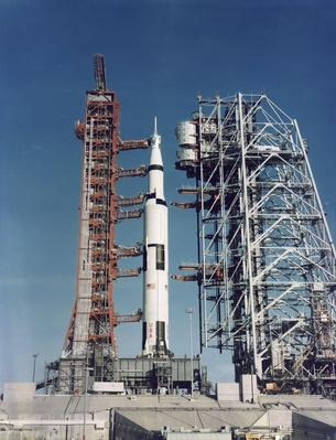 The Apollo 8 Space Vehicle on the Launch Pad at Kennedy Space Center | NASA Missions and Milestones in Space Flight