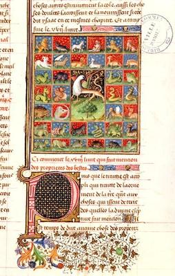 Ms 399 fol.241 The Properties of Animals, from 'Livre des Proprietes des Choses' by Barthelemy l'Anglais