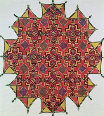 Textile with geometric pattern
