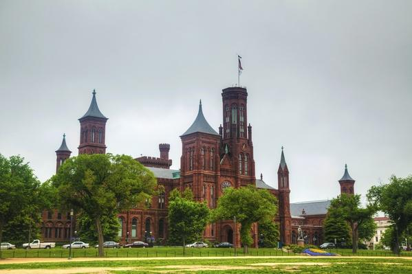 Famous American Architecture smithsonian institution building (the castle) in washington, dc
