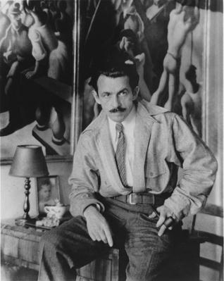 "Thomas Hart Benton with ""History of New York"" 