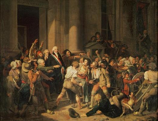 Act of Courage of Monsieur Defontenay, Mayor of Rouen, 29th August 1792