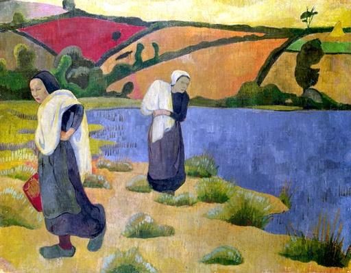 Washerwomen at the Laita River, near Pouldu, 1892